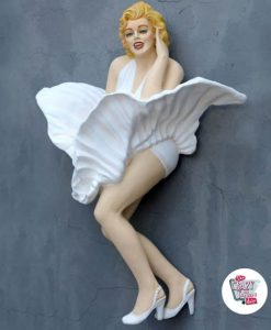 Figure Décoration murale Marilyn Jupe