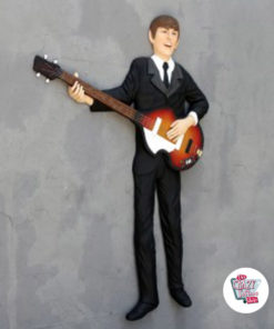Figure Decoration On Wall The Beatles