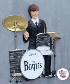Figur Dekoration Wall The Beatles Batteri
