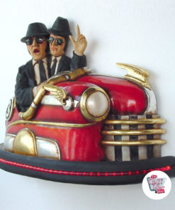 Figura Decorazione The Blues Brothers incidente d'auto