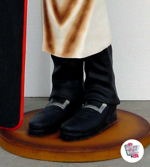 Figur Dekor Pizzero Pizzeria med Meny