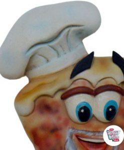 Figura Decoración Pizzería Señal Lavabos Hombres