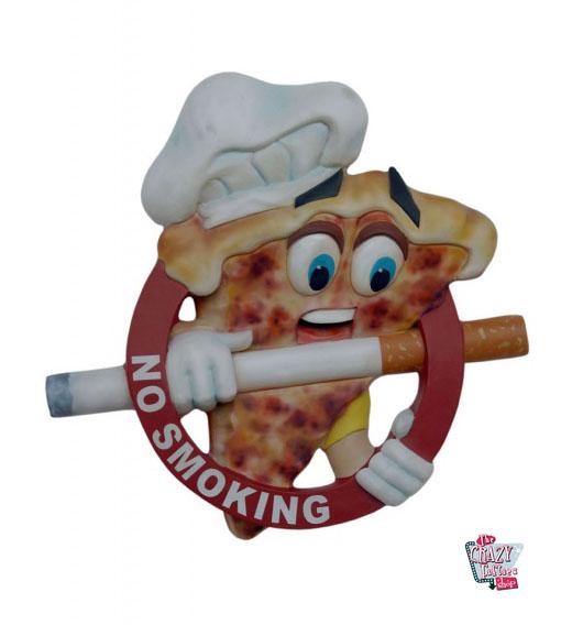 Figura Decoración Pizzería Señal No Fumar