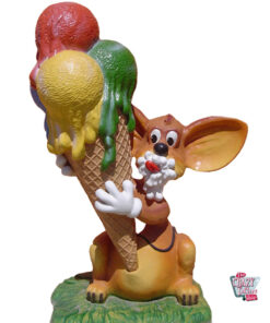 Figur Decoration Mouse with Ice Cream