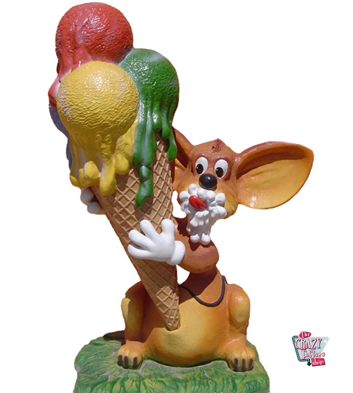 Figur Decoration Mouse med is