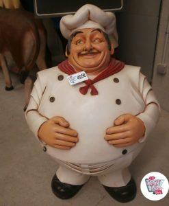 Figura Decoración Restaurante Italiano Chef Cocina