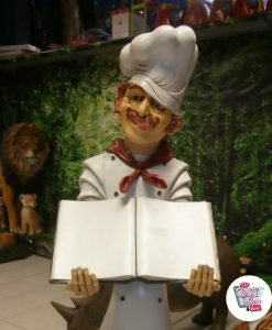 Figur Dekoration Italian Restaurant Chef med menu
