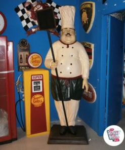 Figura Decoration italiana chef del ristorante con Blackboard