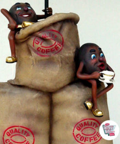 Figur Dekor poser kaffe