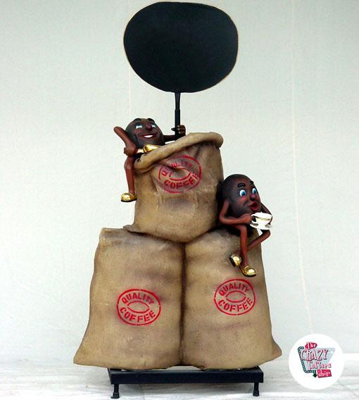 Рисунок украшения сумки кофе
