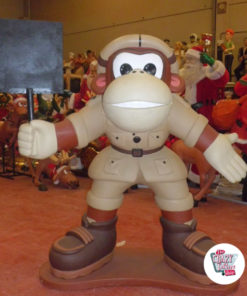 Figure Donkey Kong Theme Decoration with Slate