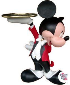 Figura decorazione tema Topolino Cameriere