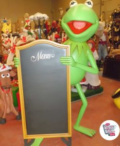 Figure Decoration Thematic Frog Gustavo With Menu