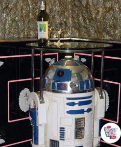 Figura Decoración Temática Star Wars R2-D2 con Mesa