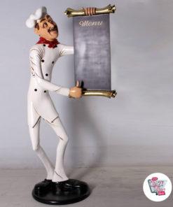 Abbildung Theme Restaurant Italienisch Chef mit Menü