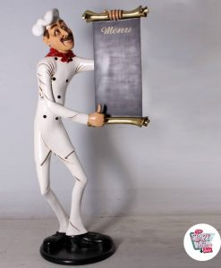 Figura Temática Restaurante Italiano Chef con Menú
