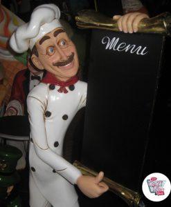 Figur Theme Restaurant italiensk kokk med meny