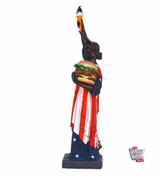 Figura Comida Estatua de la Libertad Burger y Helado