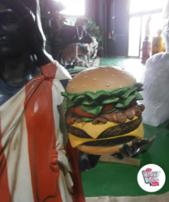 Figur Food Frihedsgudinden Burger og Is