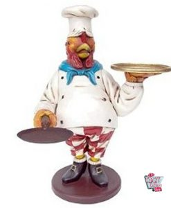 Figur Mat Chicken Chef Waiter