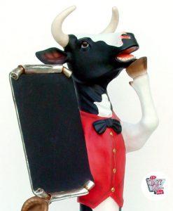 Figura Comida Vaca con Chaleco y Pizarra