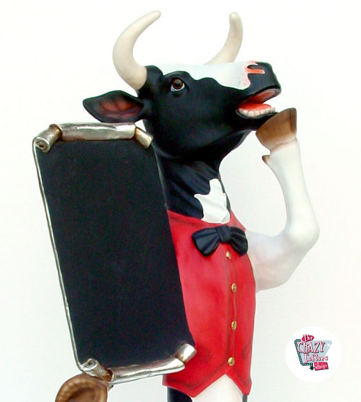 Figur Cow Mad med Vest og skifer