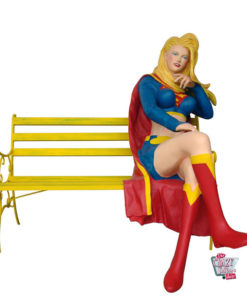 Figure Superhero Supergirl decoration on bench