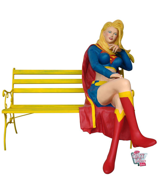 Figur Superhero Supergirl dekoration på bænk