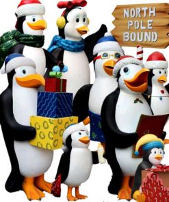 Figuren Dekoration Thema Pinguine Madagaskar Weihnachten