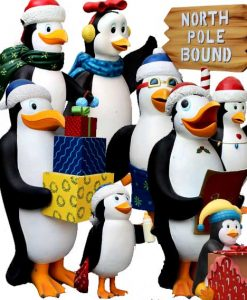 Figure decorazione tema pinguini Madagascar Natale