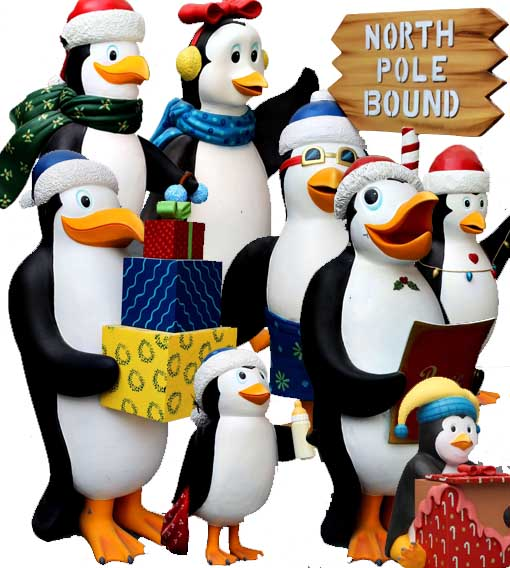 Siffror Dekoration Tema Penguins Madagascar Christmas