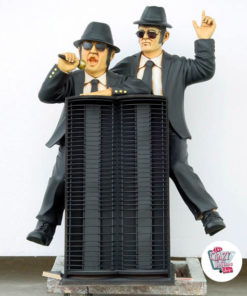 Figura Decorazione The Blues Brothers Porta Cd's