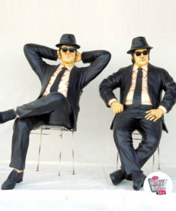 Figuras Decoración Los Blues Brothers Sentados
