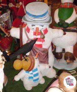 Figure Natale decorazione pupazzi di neve