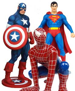 Dekoration figurer Super Heroes