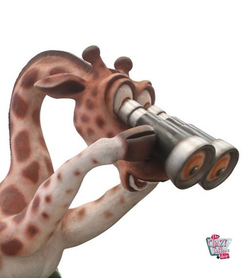Figura Decoração Tema Madagascar Giraffe Melman
