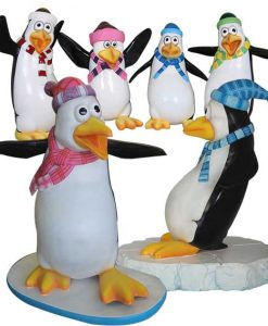 Figure Decorazione Penguins Tema Comico