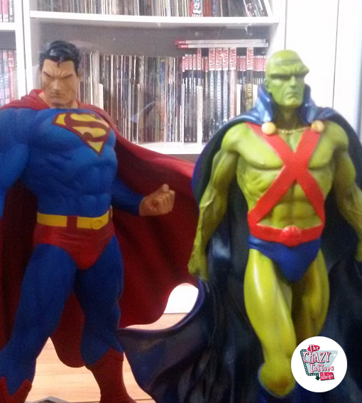 Figures decoration Various Super Heroes Superman with Martian Manhunter