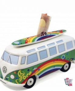 Retro VW Van Piggy Bank T1 Hippy
