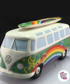 Retro VW Van Piggy Bank T1 Hippy