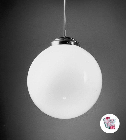 Lámpara Vintage Globo con Base Curva