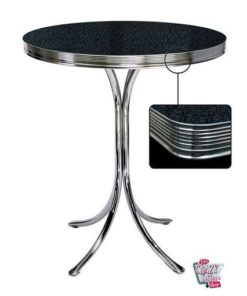 Alta Preto Retro Round Table Diner