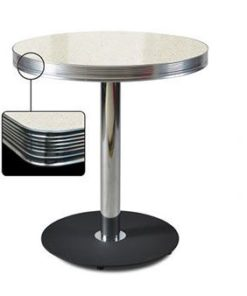Round Table Retro Diner 70 Hvit