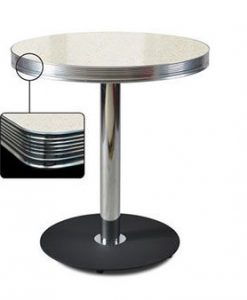 Table ronde Retro Diner 70 Blanc