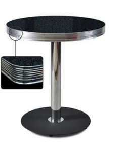 Retro Diner Black Mesa Redonda 70