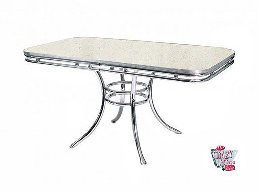 Hvid Retro Diner table TO20