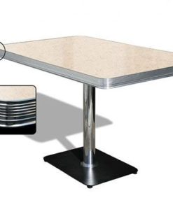 Table American Retro Diner 120 Cream