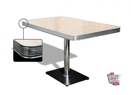 mesa americano Retro Diner 120 Creme
