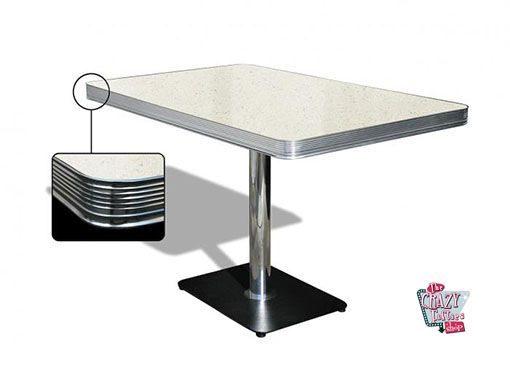mesa americano Retro Diner 120 Branco