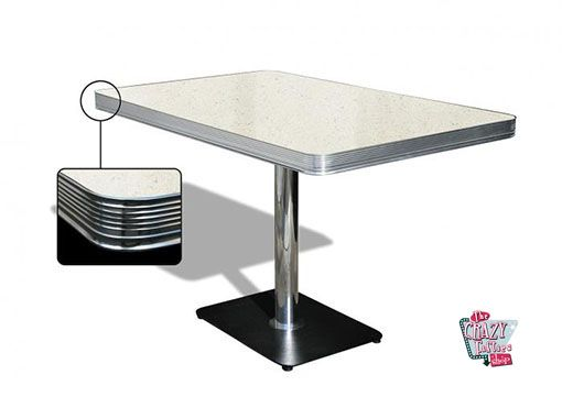 Table American Retro Diner 120 Blanc
